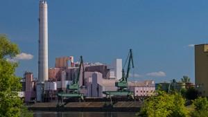 Industrieanlagen bei Schweinfurt