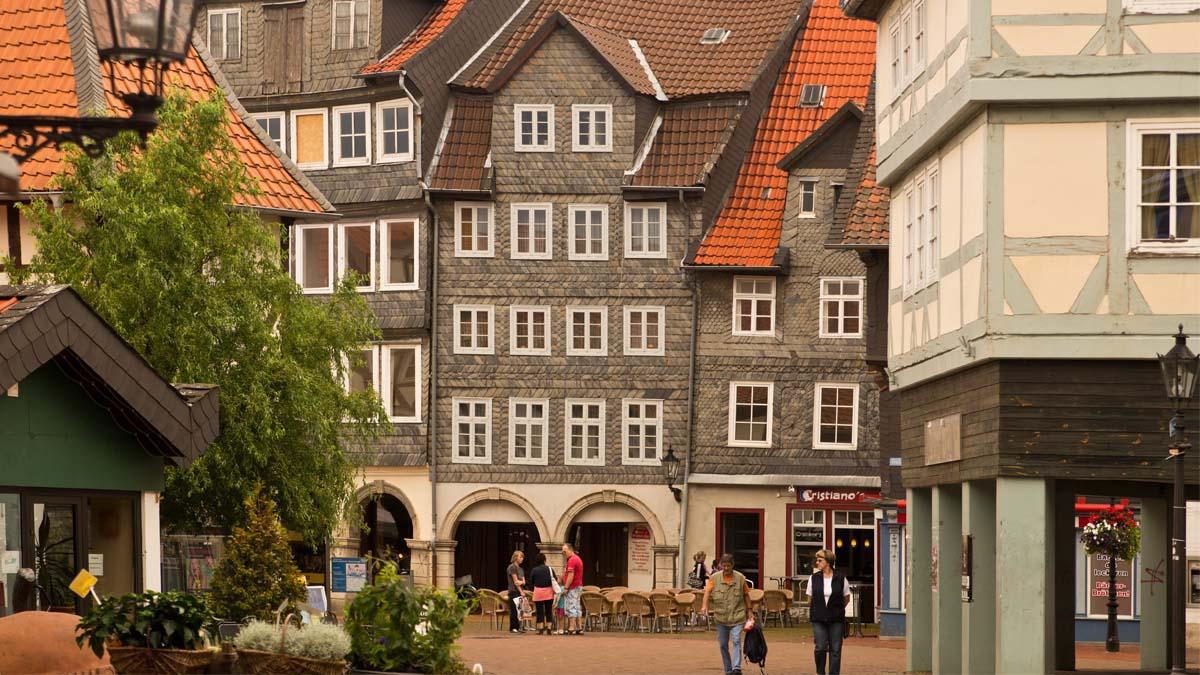 Wolfenbüttel Blick in die Fußgängerzone