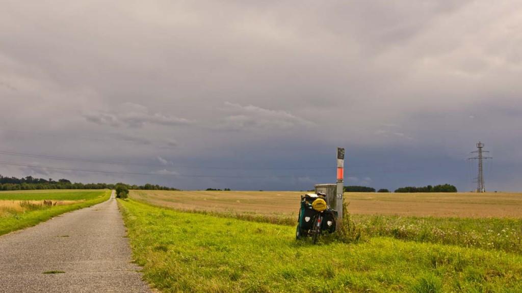 Schwarze Wolken auf dem Weg nach Wolfenbüttel