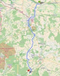Karte Deutschland der Länge nach Lauenburg Suderburg