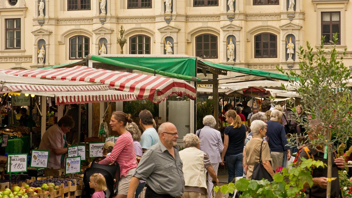 Markt in der Lüneburger Altstadt