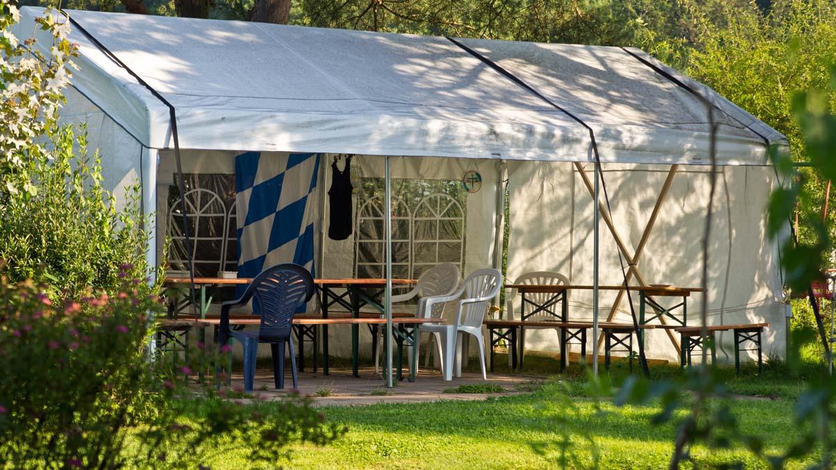 Ein Platz für Radfahrer, Wanderer und Kanuten Biker Oase Campingplatz Gemünden am Main