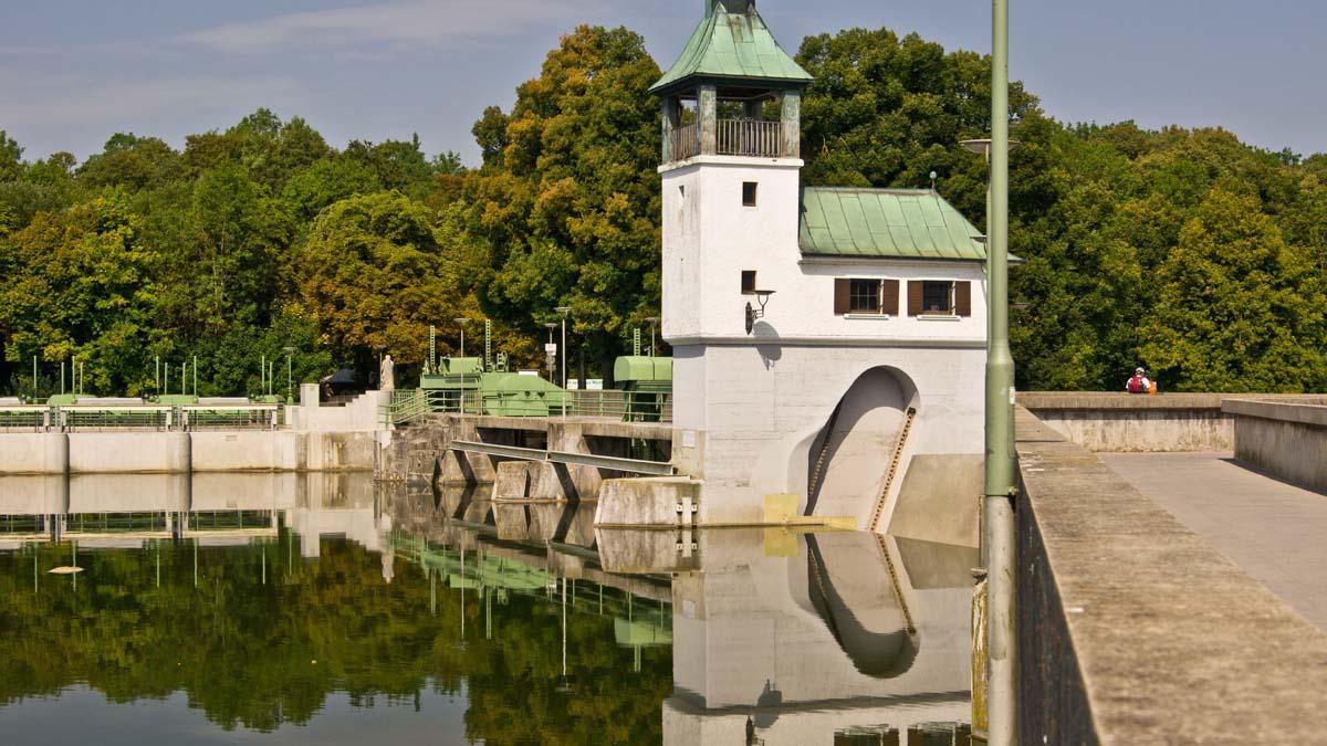 Lechstaustufe Hochablass bei Augsburg
