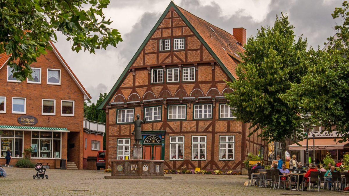 Lütjenburg am Marktplatz